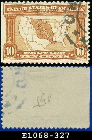 1904 USA USED Scott# 327 � 10c Map of Louisiana Purchase � 1904 Louisiana Purchase Issue