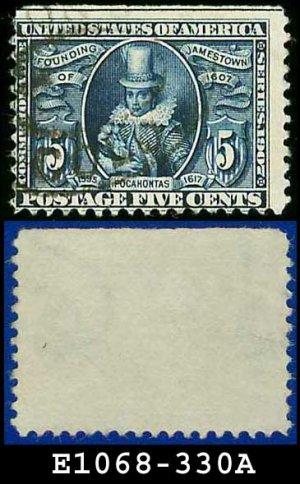 1907 USA USED Scott# 330 � 5c Pocahontas  � 1907 Jamestown Issue