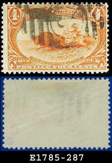 1898 USA USED Scott# 287 � 4c Indian Hunting Buffalo � Trans-Mississippi Series