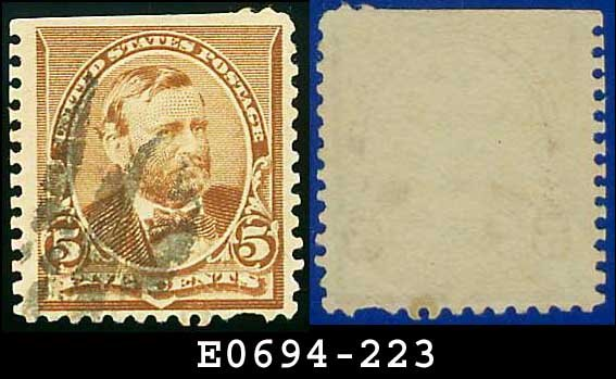 1890 USA USED Scott# 223 � 5c Grant � 1890-93 Regular Issues