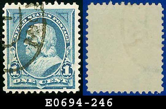 1894 USA USED Scott# 246 � 1c Franklin � 1894 Bureau Issues