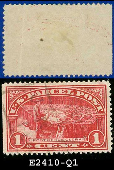 1912-13 USA Scott# Q1 USED  � 1c Postal Clerk � Parcel Post Issue