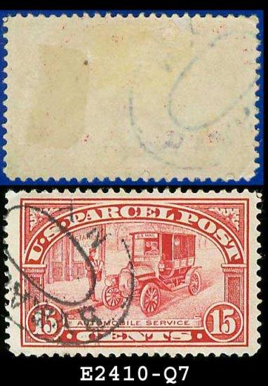 1912-13 USA Scott# Q7 USED � 15c Auto Service � Parcel Post Issue