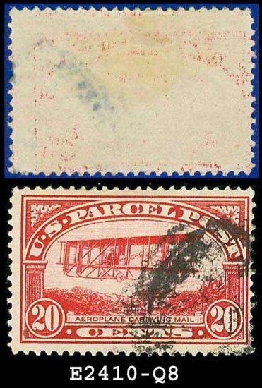1912-13 USA Scott# Q8 USED � 20c Mail Plane � Parcel Post Issue