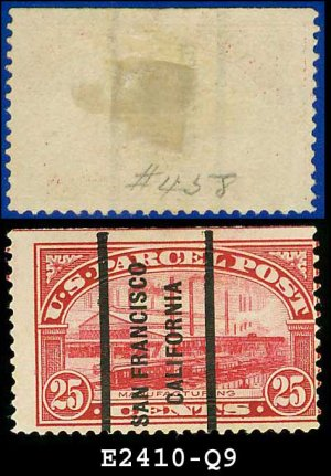 1912-13 USA Scott# Q9 USED � 25c Manufacturing � Parcel Post Issue