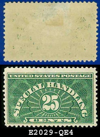1925-55 USA Scott# QE4 USED � 25c Special Handling � Perforated 11