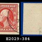 1910 USA USED Scott# 384 – 2c Washington – Imperforate Stamp