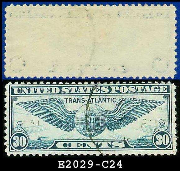 1939 USA USED Scott# C24 � 30c Winged Globe � Trans-Atlantic Issue