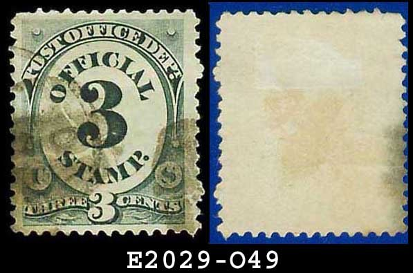 1873 USA USED Scott# O49 � 3c Post Office Dept � Official Stamps