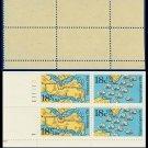 1981 USA MNH Sc# 1937-38 Plate# Block of Four – 18c American Bicentennial - 1981 Commemoratives