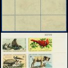 1972 USA MNH Sc# 1464-67 Plate# Block of Four – 8c Wildlife Conservation - 1972 Commemoratives