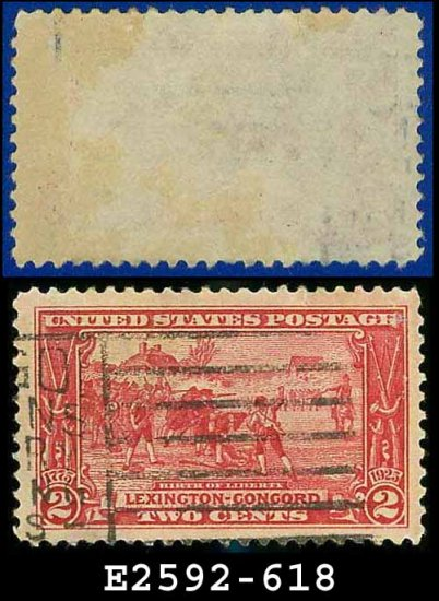 1925 USA USED Scott# 618 � 2c Birth of Liberty � Lexington-Concord Issue