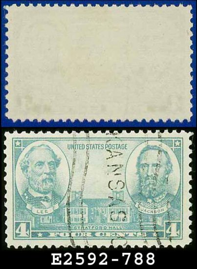1936-37 USA USED Scott# 788 � 4c Lee & Jackson � Army-Navy War Heroes Issue