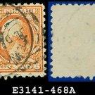 1916-17 USA USED Scott# 468 – 6c Red Orange Washington – 1916-17 Regular Issue