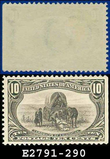 1898 USA UNUSED Scott# 290 � 10c Hardships of Emigration � Trans-Mississippi Series