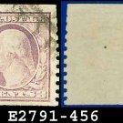 1914-16 USA USED Scott# 456 – 3c Violet Washington  – 1914-16 Vertically Perforated Coil Stamps