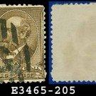 1882 USA USED Scott# 205 – 5c Yellow Brown Garfield – 1882 Regular Issue