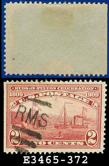 1909 USA USED Scott# 372 � Half Moon and Clermont � 1909 Hudson-Fulton Celebration Issue