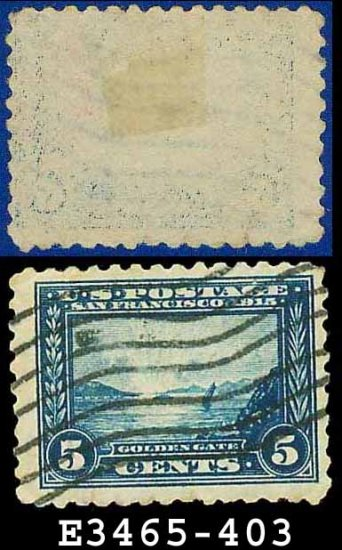 1913 USA USED Scott# 403 � 5c Blue Golden Gate � 1913 Panama-Pacific Issue