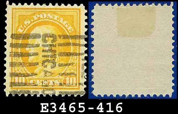 1912-14 USA USED Scott# 416 � 10c Orange Yellow Franklin � 1912-14 Regular Issue
