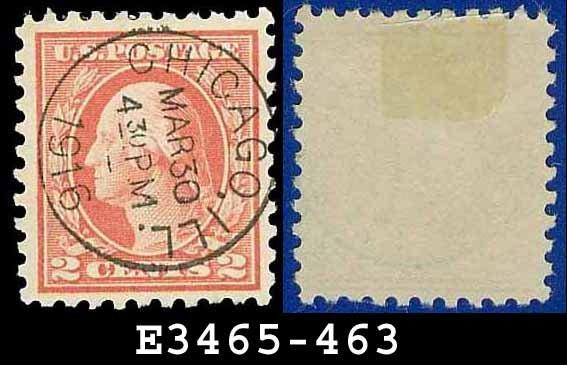 1916-17 USA USED Scott# 463 � 2c Carmine Washington � 1916-17 Regular Issue