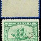 1920 USA USED Scott# 548 – 1c The Mayflower – 1920 Pilgrim Tercentenary Issue