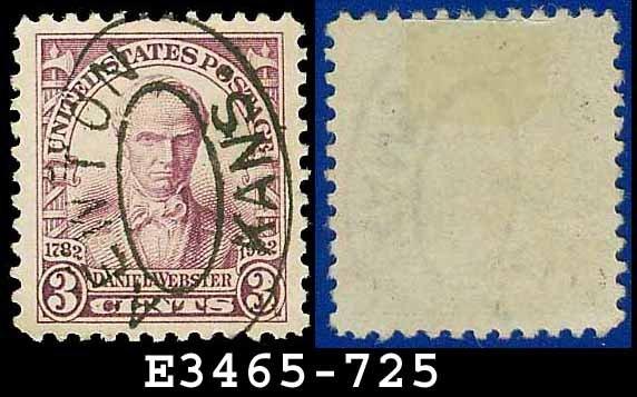 1932 USA USED Scott# 725 � 3c Violet Webster � 1932 Commemoratives