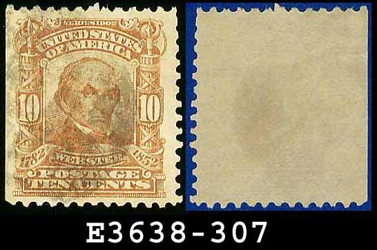 1902-03 USA USED Scott# 307 � 10c Daniel Webster Statesman � 1902-03 Regular Series Perf 12