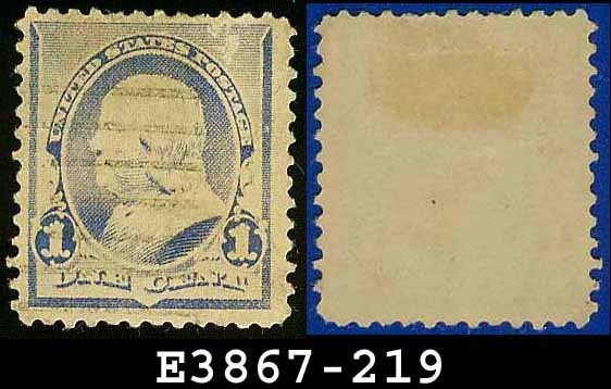 1890-93 USA USED Scott# 219 � 1c Dull Blue Franklin � 1890-93 Regular Issue