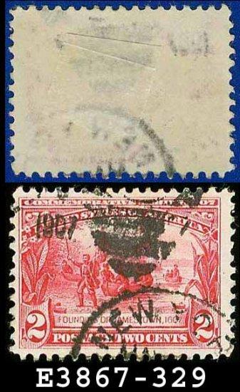 1907 USA USED Scott# 329 � 2c Founding of Jamestown � 1907 Jamestown Issue