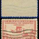 1928 USA USED Scott# 649 – 2c Wright Airplane – International Civil Aeronautics Conference Issue