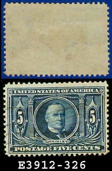 1904 USA USED Scott# 326 � 5c Blue McKinley � 1904 Louisiana Purchase Issue