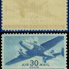 1941-44 USA UNUSED C30 – 30c Blue Twin-Motored Transport Plane – 1941-44 Airmail Issue
