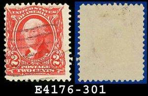 1902-03 USA USED Scott# 301 � 2c Washington 1st US President � 1902-03 Regular Series Perf 12