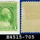1932 USA UNUSED Scott# 705 – 1c Green Washington - 1932 Washington Bicentennial Issue