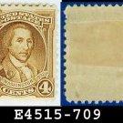 1932 USA UNUSED Scott# 709 – 4c Light Brown Washington - 1932 Washington Bicentennial Issue
