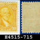 1932 USA UNUSED Scott# 715 – 10c Orange Yellow Washington - 1932 Washington Bicentennial Issue