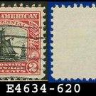 1925 USA USED Scott# 620 – 2c Carmine & Black Restaurationen – Norse-American Issue