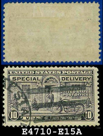 1927-51 USA USED E15 � 10c Grey Violet Motorcycle Delivery - Special Delivery Issue