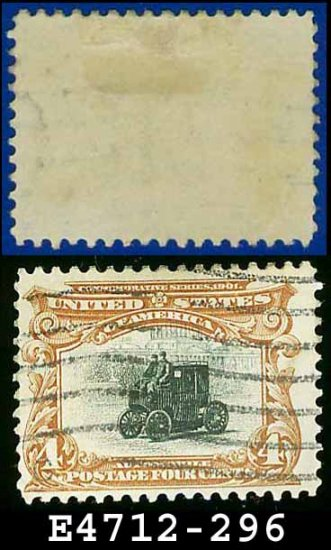 1901 USA USED Scott# 296 � 4c Automobile � Pan-American Issue