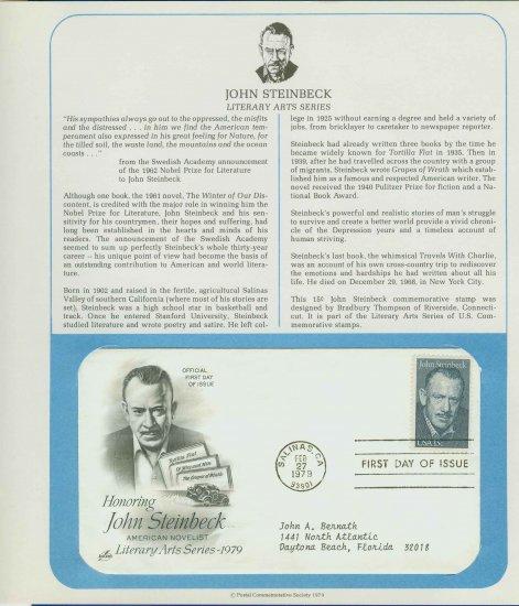 1979 USA FDC Scott# 1773 � Honoring John Steinbeck on Cachet Addressed Cover E4859P