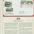 1982 USA FDC Scott# 2019-20 – Sep 30 – American Architecture on Cachet Addressed Cover E4859P