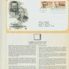 1983 USA FDC Sc# 2055-6 – Sep 21 – Honoring Americas Inventors on Cachet Addressed Cover E4859P