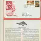1983 USA FDC Scott# 2063-64 – Oct 28 – Christmas 2 Stamps on Cachet Addressed Cover E4859P