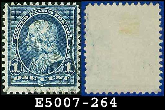 1895 USA USED Scott# 264 � 1c Blue Franklin - 1895 Bureau Issues