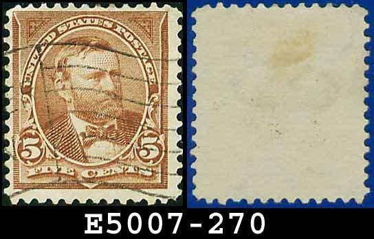1895 USA USED Scott# 270 � 5c Grant - 1895 Bureau Issues