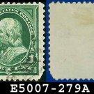 1898 USA USED Scott# 279 – 1c Green Franklin - 1898 Regular Issue