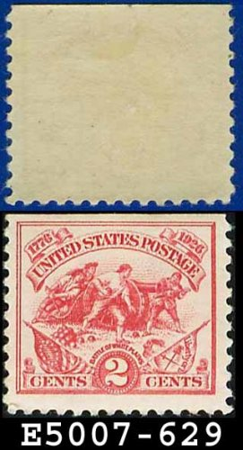 1926-27 USA UNUSED Scott# 629 � 2c Hamilton�s Battery � Battle of White Plains