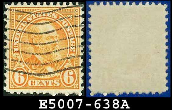 1926-28 USA USED Scott# 638 - 6c Garfield - 1926-28 Regular Issue