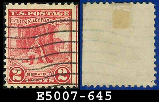 1928 USA USED Scott# 645 - 2c Washington at Prayer - 1928 Commemoratives